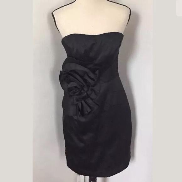 White House Black Market Black Cocktail Dress 6
